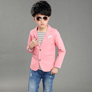 Children Casual Blazers Boys Party Wedding Outwear Solid Kids Cotton Suits Blazer Formal Jacket