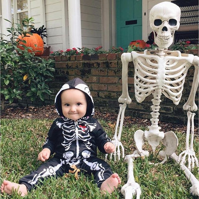 New Toddler Kids Baby Girl Boy Rompers Hooded Skull skeleton Romper Jumpsuit Outfits