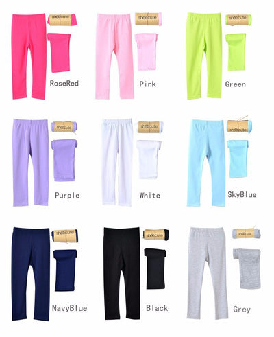 Girl pants new Candy color Big girls leggings Toddler classic children trousers baby kids top quality