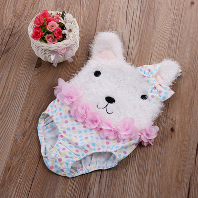 Baby Clothing!Cotton Baby Girl Newborn Clothes Romper Baby Girl Clothes Flower Polka Dot 3D Bear Romper Jumpsuit Outfits