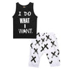 Fashion Kids Baby Boys Clothes Sleeveless Letter Vest Short pants Outfits Set Child Boy Clothes