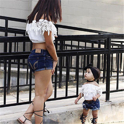 2Pcs Baby Girls Cotton Clothes Set Cute Toddler Baby Kids Girls Lace Tops Shorts Pants New Arrival Outfit Clothes Set
