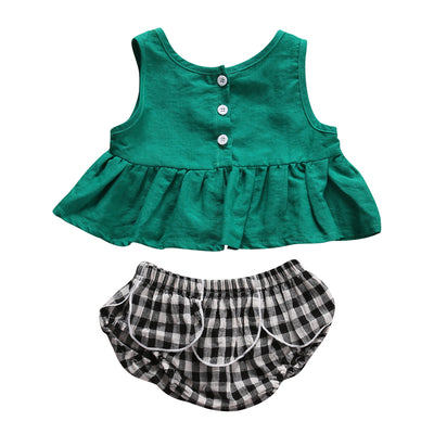 T-shirt Top Pants Toddler Newborn Baby Girls new arrival fashion Outfits Set Clothes