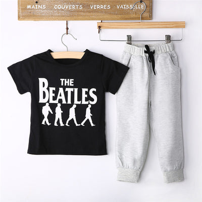 Newborn Baby Clothes Set Baby Boys Clothes Outfits New Arrival  Short Sleeve Letter T-shirt Tops Pants Set