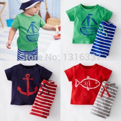 Fashion Baby Kids Boys Casual Clothes Suit Tops T-shirt Pants