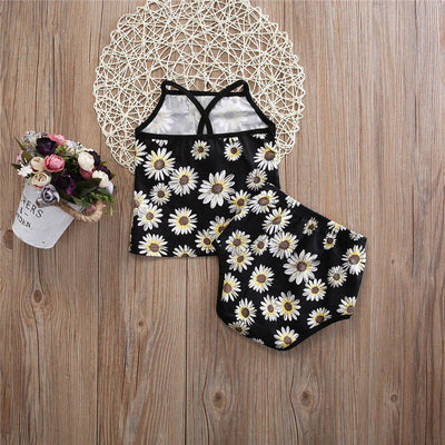 Baby Kid Girls Clothes Floral Printed Tops Shorts Pants Outfits Set New Summer Baby Girl Clothes