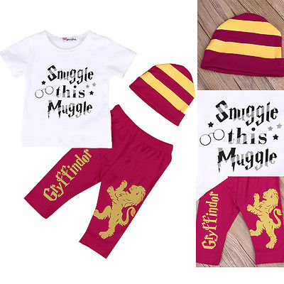 3pcs Newborn Infant Fashion Baby Boy Tshirt Pants Striped Hat Outfits Children Clothes Set