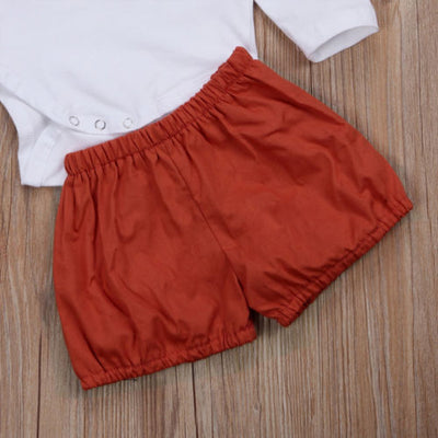 2PCS Newborn Baby Boy Girl Deer Romper Tops Bottoms Pants Christmas Clothes Outfits