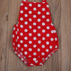2pcs Baby Clothing Set Newborn Baby Girls Polka Dots Romper Backless Sunsuit Headband Outfits Set