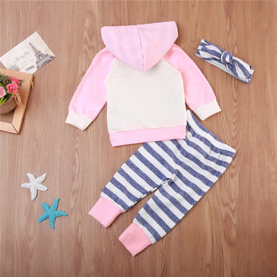 Autumn Baby Clothes Set Cotton Newborn Baby Boy Girl Hooded Tops Pants New Outfit Warm Kid Fall Clothing