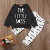 Autumn Baby Boy Clothing Toddler Baby Boys Black Tshirt Tops Long Pants Outfits Set Clothes Children Cotton Outfits