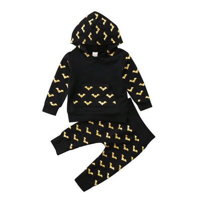 2 PCS Toddler Newborn Baby Boy Camouflage Hooded Long Sleeves Shirt Tops Pants Outfits Set Batman Clothes