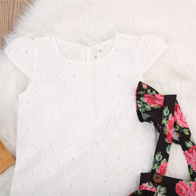 Kids Baby Girls Lace T-shirt Tops Short Pants Shorts  new arrival fashion Summer Outfits Clothes Set Age