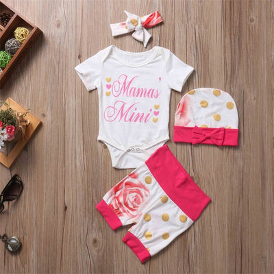Newborn Baby Kids Girl Cotton Letter Tops Romper Pants  new arrival fashion jumpsuit Outfit Clothes Set