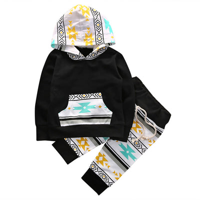 Baby Boy Girls Hooded Sweatshirt Tops Pant Newborn Kids  new arrival fashion Set Clothes