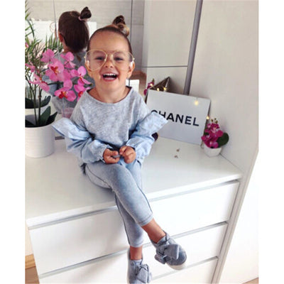 Infant Kids Girl Clothes Baby Girls Long Sleeve Patchwork Tops Pants Leggings  New Outfits Kids Cotton Clothes