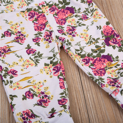 Autumn Winter Kids Baby Girls Floral Printed Pants New Arrival Trousers Baby Girls Cotton Leggings Clothes