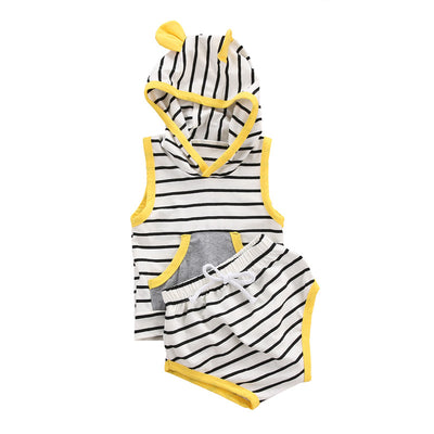 Baby Boys Clothes Set New Spring Autumn Newborn Baby Girl Clothing Sleeveless Top Pant 2PCS Set