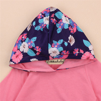 2pcs Newborn Baby Children Flower Clothes Set Infant Baby Girls Hoodie Tops Legging Pants New Outfits Costume Sets