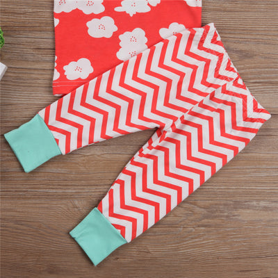 3PCS Infant Baby Striped Clothes Set Newborn Baby Girl Boy T-shirt Top Pant  New Arrival Fashion Outfit Clothes Set
