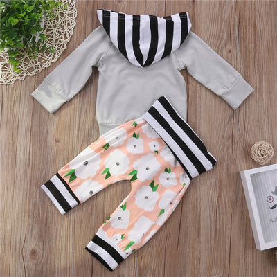 Baby Boys Girls Hooded Tops Long Pants Newborn Kids Baby Boys Girls Clothes New Arrival Outfits Set Clothing For Newborns