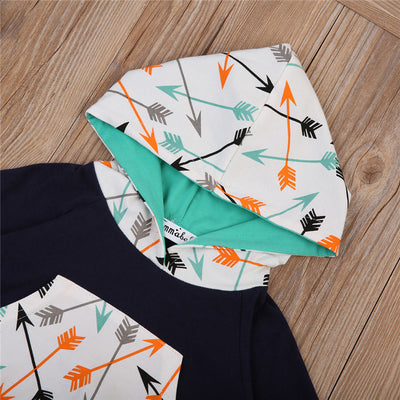 2pcs Baby Cotton Clothes Fall Newborn Baby Boys Girls Long Sleeve Hoodie Pants New Arrival Outfits Clothes Set