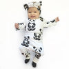 3PCS Baby Boy Girl Cotton Top Blouses Long Pants Headdress Baby Clothes New Arrival Outfits Set Clothing For Newborns