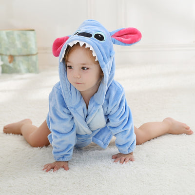 Baby Boys Girls Fox Cat Children Pajamas Set Flannel Stitch Animal Pajamas Kids Sleepwear Sets