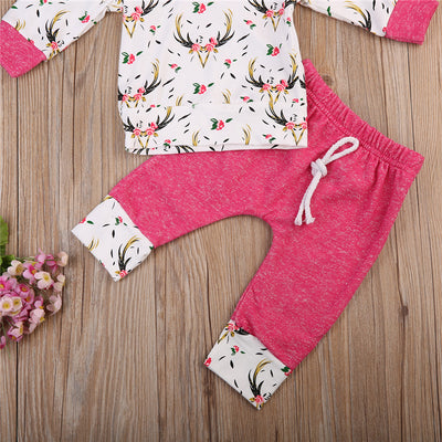 2Pcs Set New Adorable Autumn Newborn Baby Girl Boy Infant Warm Clothes New Arrival Hooded Clothes Outfit