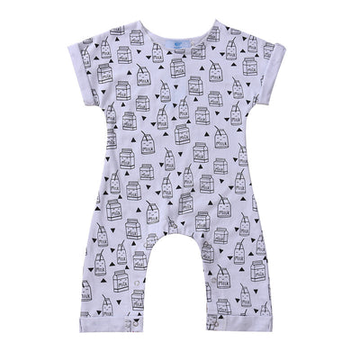 Baby Boys Rompers Infant Jumpsuits Baby Clothes Summer Short Sleeve Cotton Kids Overalls Newborn Baby Girls Clothing