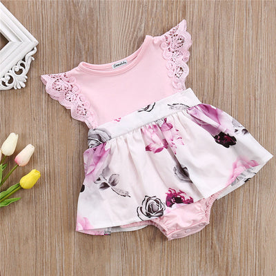 Adorable Toddler Baby Girl Summer Ruffle Sleeveless Floral Dress Baby Sister Clothes  New Sundress Kids Girl