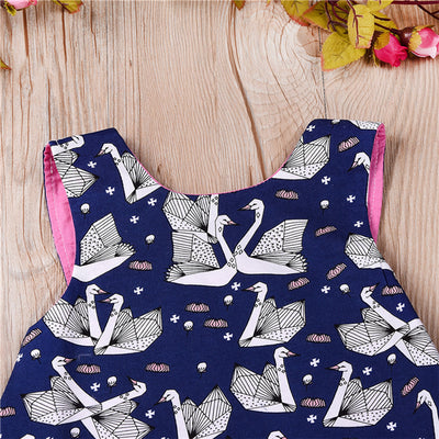 3PCS Baby Girl Summer Clothes Newborn Baby Girls Swan Sleeveless Tops Tutu Shorts Pants  New Bebes Outfits Girl Clothing Set