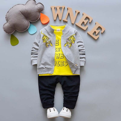 3 PCs Set Children Boys Clothing Sets New Spring Boys Coat T-shirt Pants Sport Suit Clothes Outfit Kids Boy Tracksuit Set
