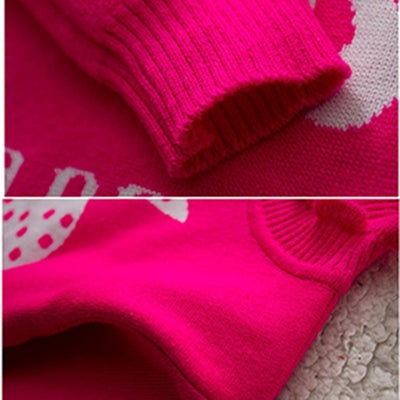 Autumn Baby Sweater Coat Children Long Sleeve Turtleneck cartoon knitted Girls Causal Jacket Kids Cotton Clothing