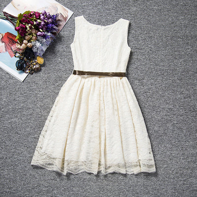 Summer Kids Dresses For Girl Lace Girls Flower Dress Baby Girl Party Dress Children Clothing Teenagers Clothes 4 10