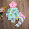 Autumn baby boy clothing set fashion cotton long-sleeved Hoodie + Pants newborn baby boy clothes