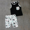 Baby boy clothes summer kids clothes sets vest top +pants suit clothing set newborn sport suits Clothes Set 1-3Years