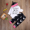 Christmas Infant Baby Girls Long Sleeve Clothes Romper Pants Cap Hat Outfits Set Clothes newborn Casual suits