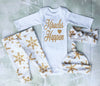 Christmas Set New Baby Boy Girl Christmas Tops Romper+Long Pants Bottoms Hat newborn baby boy clothing set