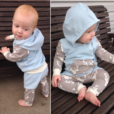 Newborn Baby Clothes Cotton Baby set Long Sleeve Baby boy Girl Hooded Clothing suits Children Clothing Set