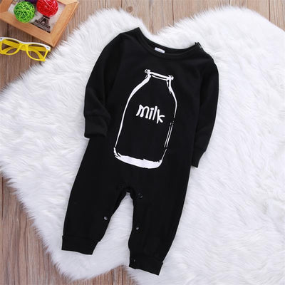 Autumn Newborn Infant Baby Boy Girl Long Sleeve bottle Milk Romper Cotton Jumpsuit Clothes Sleepsuit Outfits