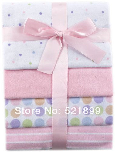 Baby Flannel Receiving Blankets cotton baby bedding