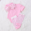 Christmas Suit ! autumn baby girl clothes set Baby Girl Romper+Stripe Leg Warmers 3pcs Outfits Set Clothes 0-18M