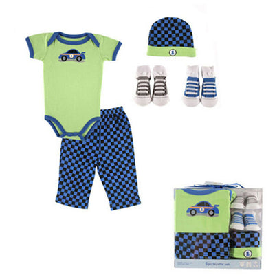 Newborn Baby Clothing Sets 5 PCS Infants Suit Summer Clothes  Baby Girls Boys Clothes 100% Cotton