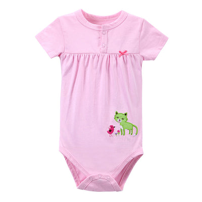Baby Girl Rompers New Baby Clothing Short Sleeve Infant Product 100% Cotton Baby Romper Boys Girls Jumpsuit