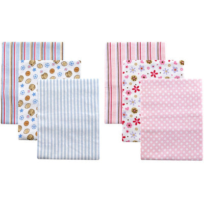 Flannel Baby Receiving Blankets cotton baby bedding Set 3 pcs
