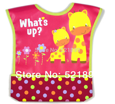 Waterproof Baby Bibs New Cartoon Pattern Fold Down Convenience Health Bib Infant Baby Feeding Bibs