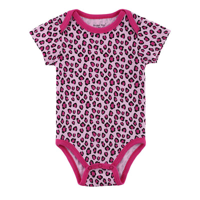 Leopard Short Sleeves Baby Romper Baby Clothing Newborn Girl Baby Costume 10 Styles Available