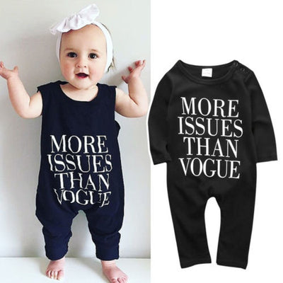 Autumn Newborn Infant Kids Baby Boy Girl Cotton Long Sleeve Romper Letter Printed Jumpsuit Clothes Outfit