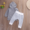2pcs autumn baby girl Boys clothes set born Baby Boy Girl Warm Hooded Coat Tops+Pants Outfits Sets